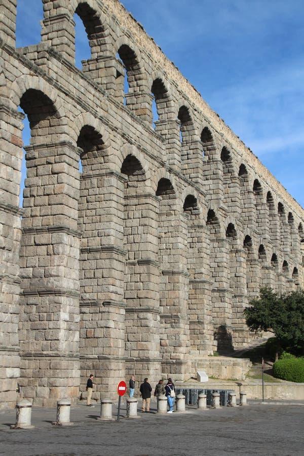渡槽在塞戈维亚,西班牙 免版税库存图片