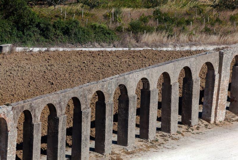 渡槽在Obidos,葡萄牙 库存图片