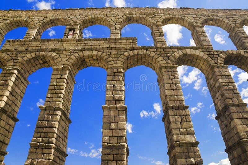 渡槽罗马segovia西班牙 免版税库存照片