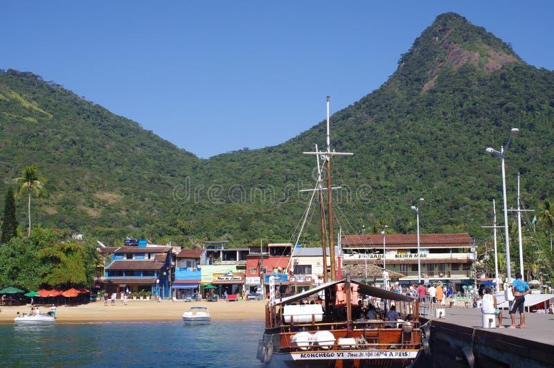 渡轮的码头 免版税库存图片