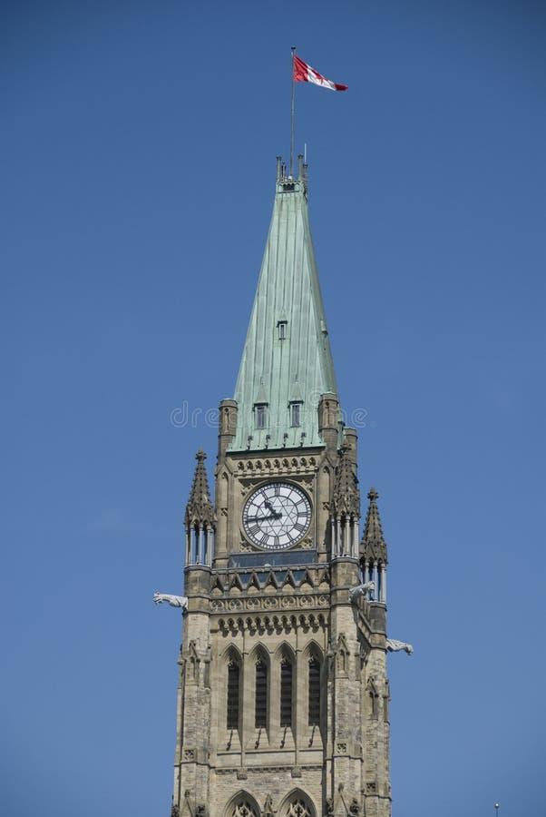 渥太华和平塔 库存照片