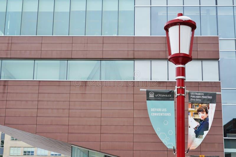 渥太华大学,加拿大的校园 库存照片