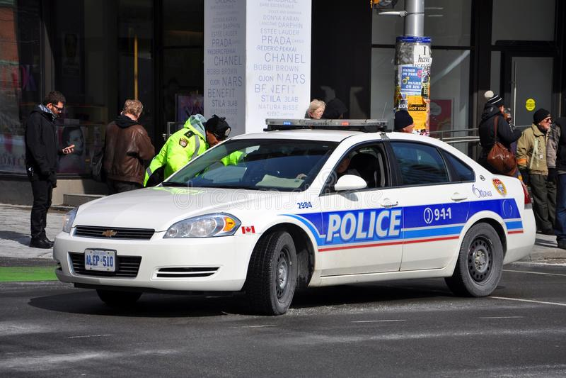 渥太华警车在渥太华,加拿大 免版税库存图片