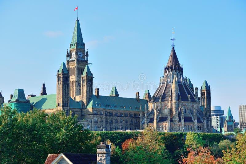 渥太华议会小山大厦 免版税图库摄影