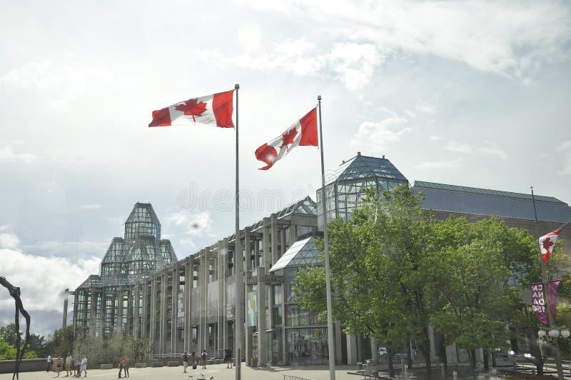 渥太华, 6月26日:加拿大大厦国家肖像馆从渥太华街市的  免版税库存照片