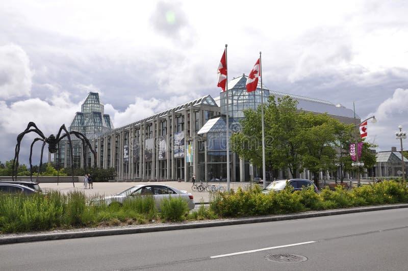 渥太华, 6月26日:加拿大大厦国家肖像馆从渥太华街市的  免版税库存图片