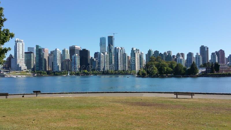 温哥华不列颠哥伦比亚省加拿大地平线 库存照片