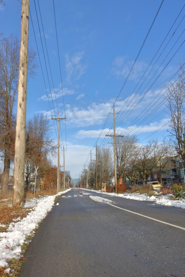 温哥华公开冬天运输 免版税库存照片
