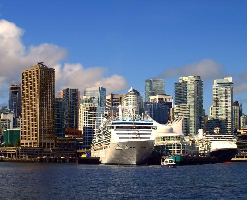 温哥华加拿大都市风景。 免版税库存照片