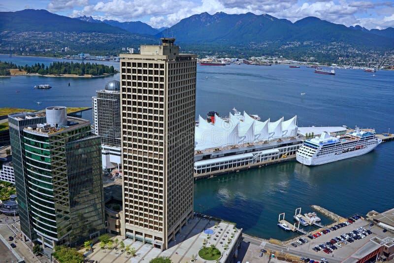 温哥华地平线和港口 库存照片