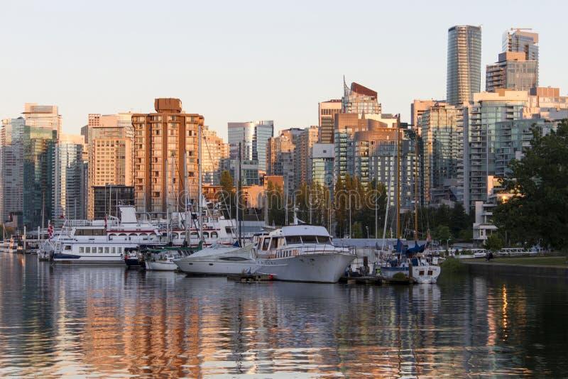 温哥华地平线都市风景 免版税库存图片