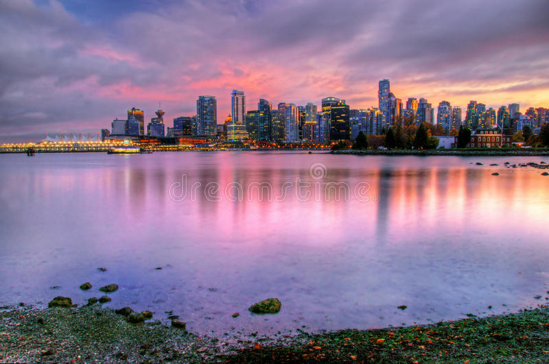 温哥华地平线 免版税图库摄影