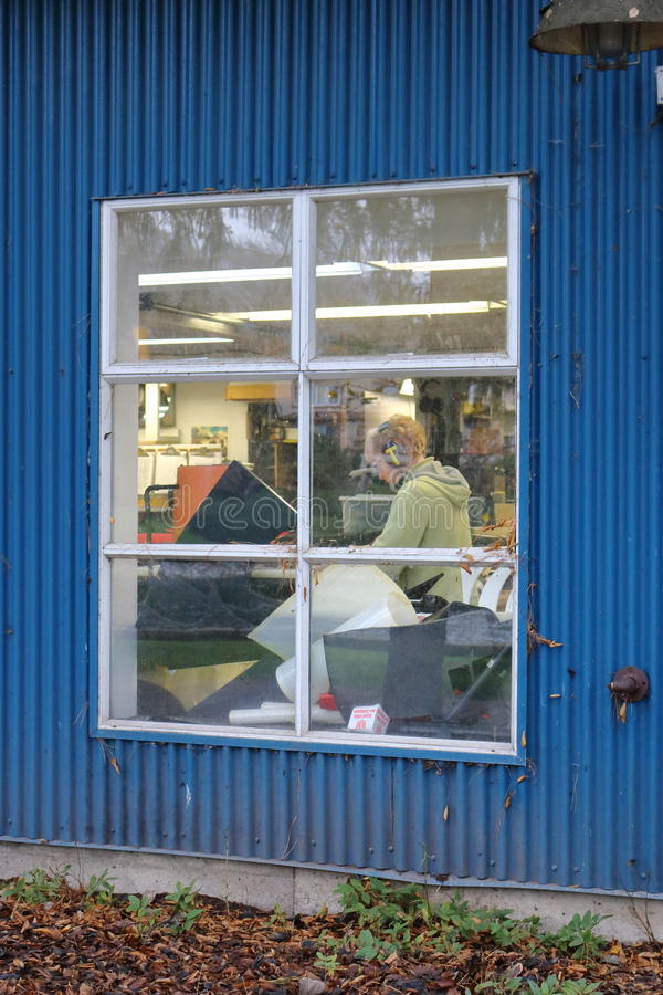 温哥华格兰维尔海岛印刷店 免版税库存图片