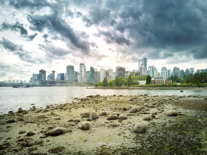 温哥华海湾 库存图片