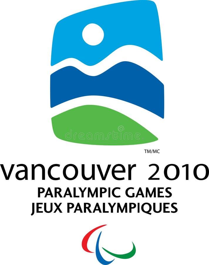温哥华2010年Paralympic徽标 向量例证