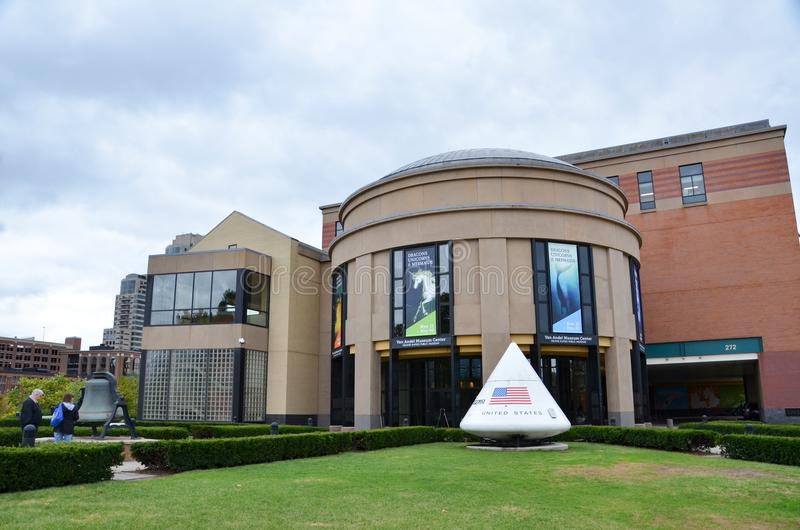 温安洛博物馆中心在大瀑布城 库存照片
