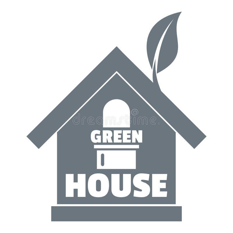 温室商标,简单的灰色样式 库存例证