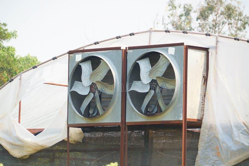 温室空气环流和透气 图库摄影