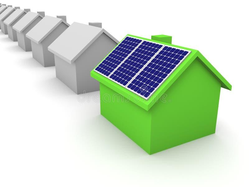 温室镶板太阳 向量例证