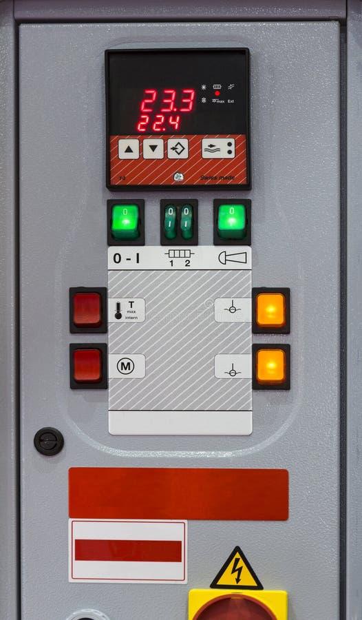 温度控制单位控制板  库存照片