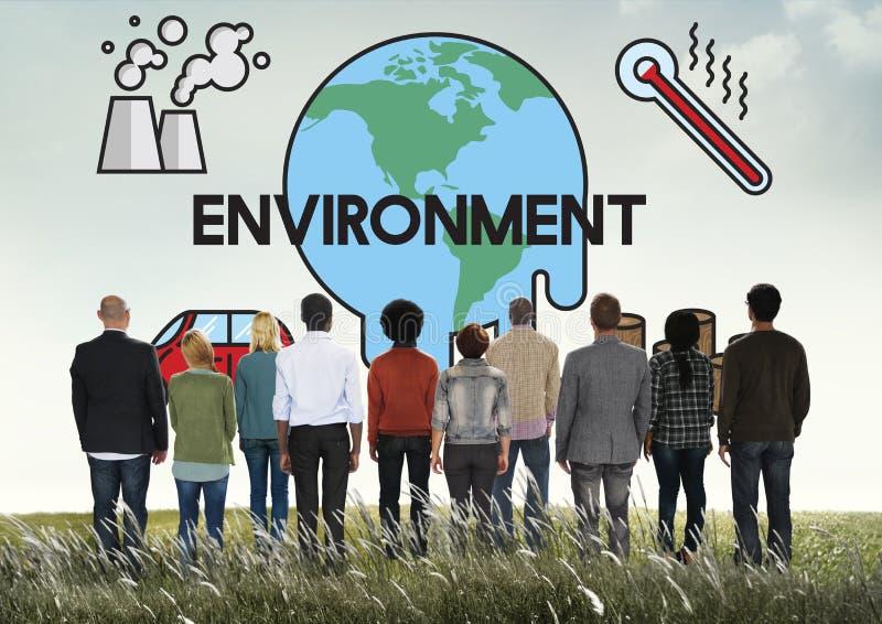 温度救球地球污染行星环境气候变化概念 库存照片