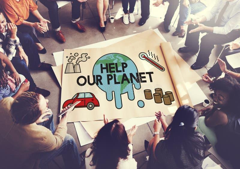 温度救球地球污染行星环境气候陈 免版税库存照片