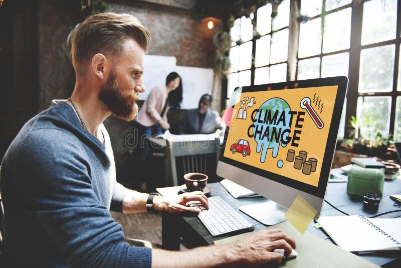 温度救球地球污染行星环境气候陈 库存照片