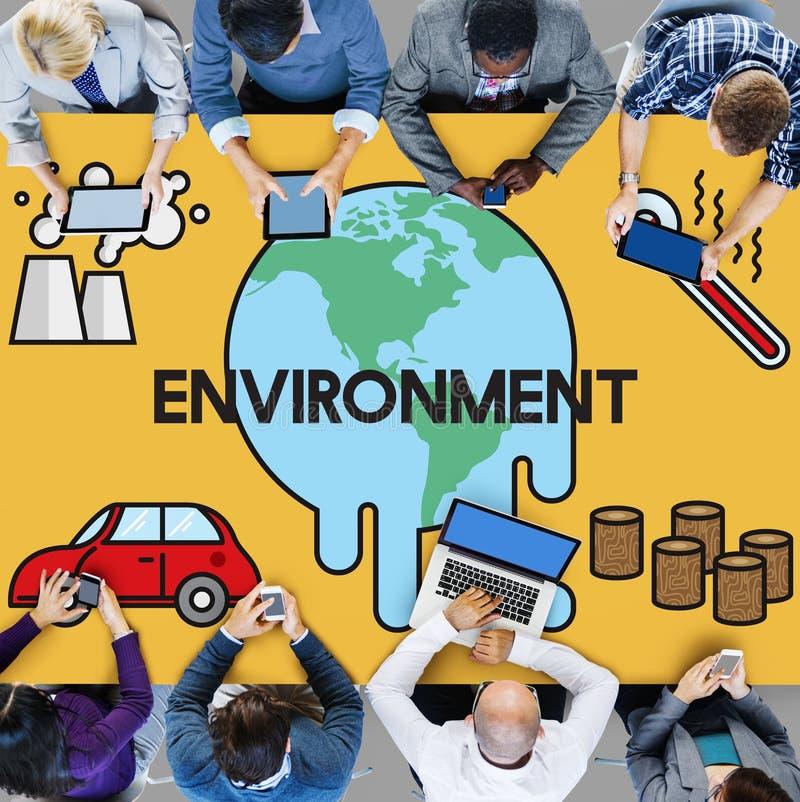 温度救球地球污染行星环境气候陈 向量例证