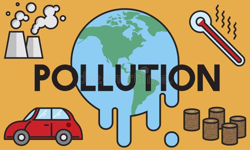 温度救球地球污染行星环境气候陈 库存例证