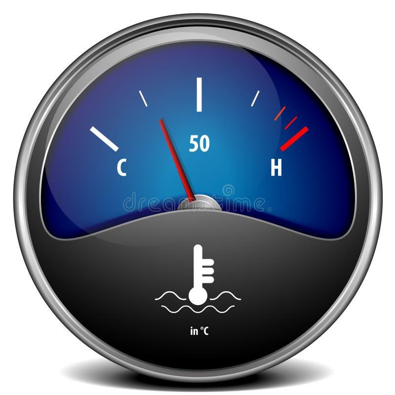 温度测量仪 向量例证