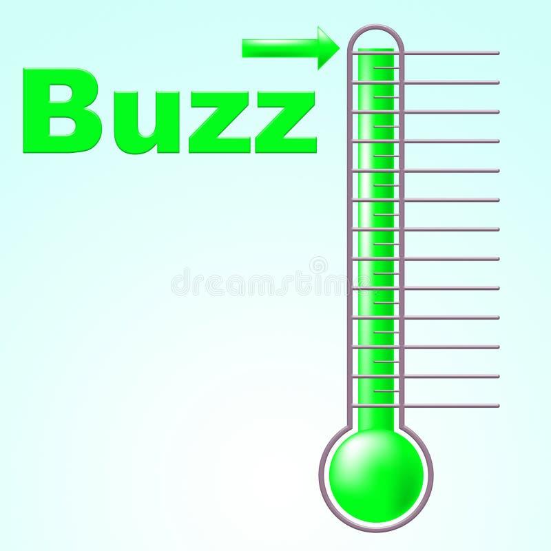 温度计蜂声意味公共关系和明白 库存例证