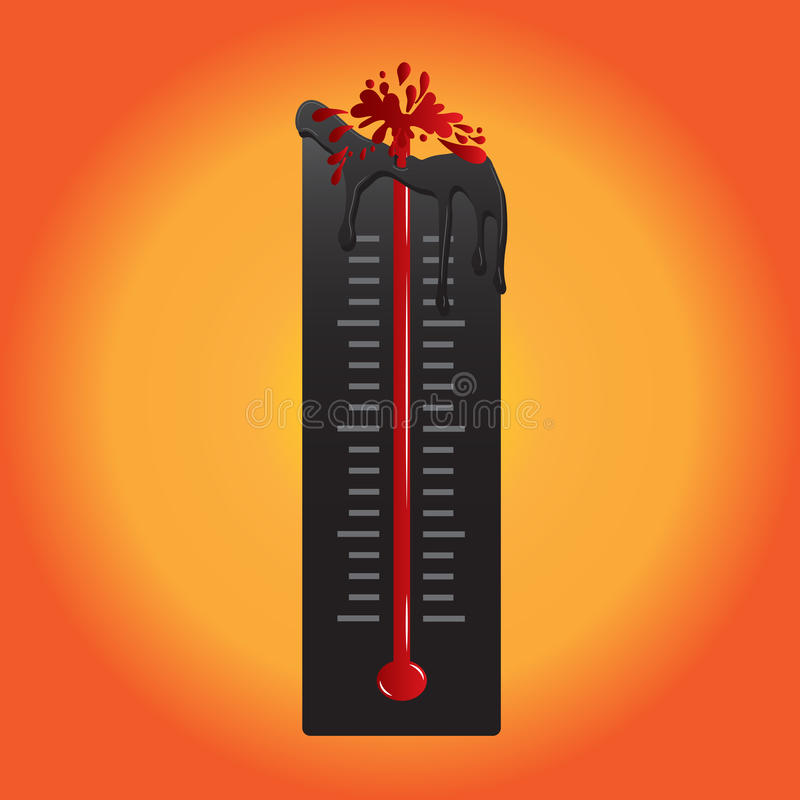 温度计融解,由于热空气 也corel凹道例证向量 皇族释放例证