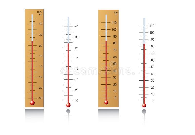 温度计 库存例证