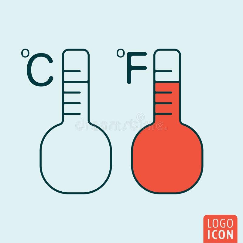 温度象 库存例证