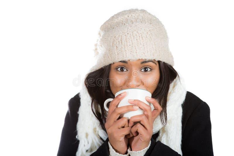 温暖冷的咖啡 免版税图库摄影