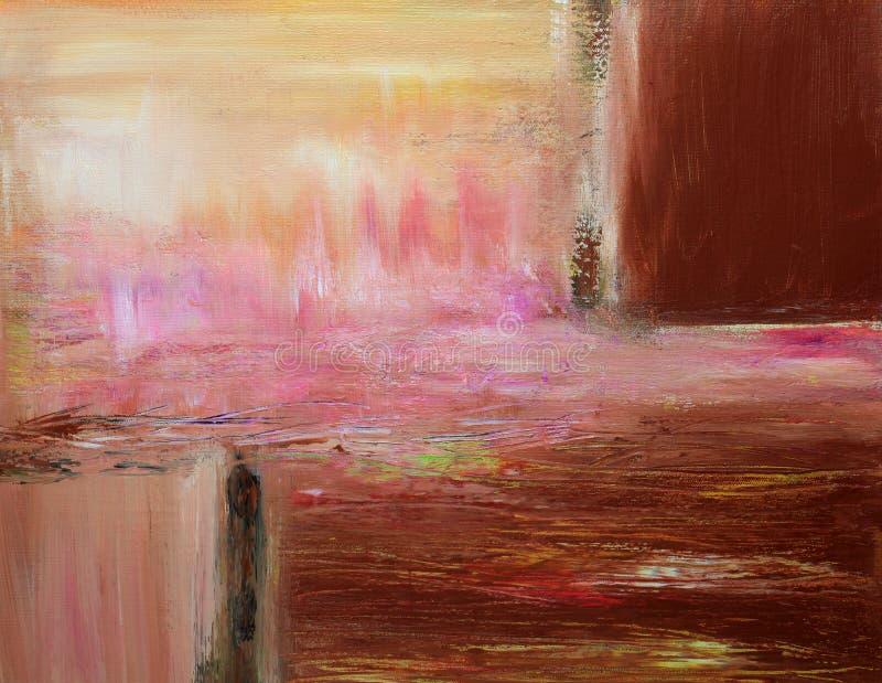 温暖抽象当代的绘画 库存照片