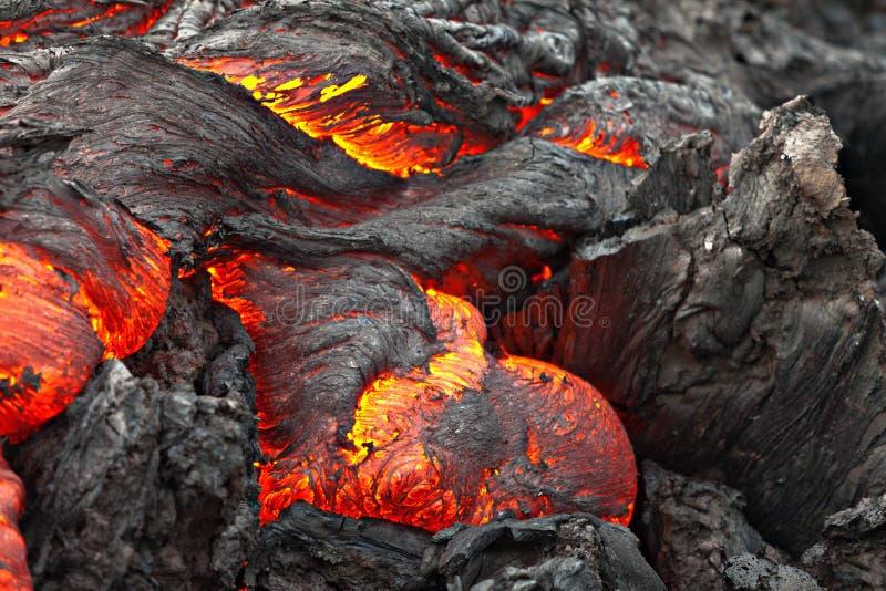 温暖的心脏熔岩流 库存照片