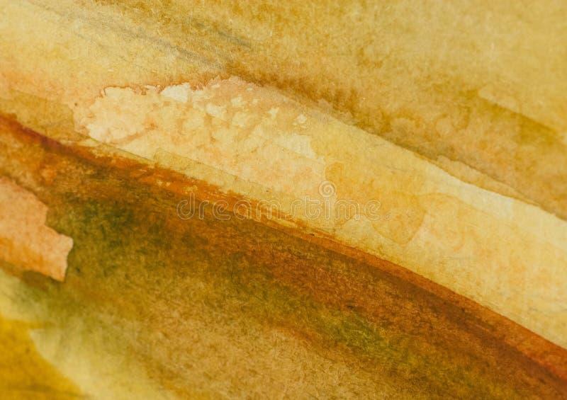 温暖的棕色水彩背景 免版税库存图片