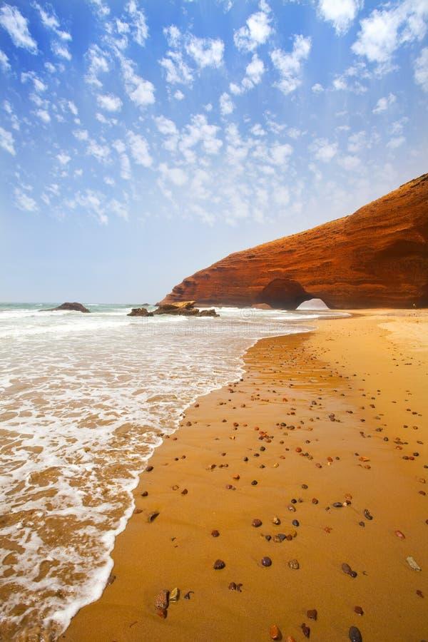 温暖的海运天堂海滩 免版税图库摄影
