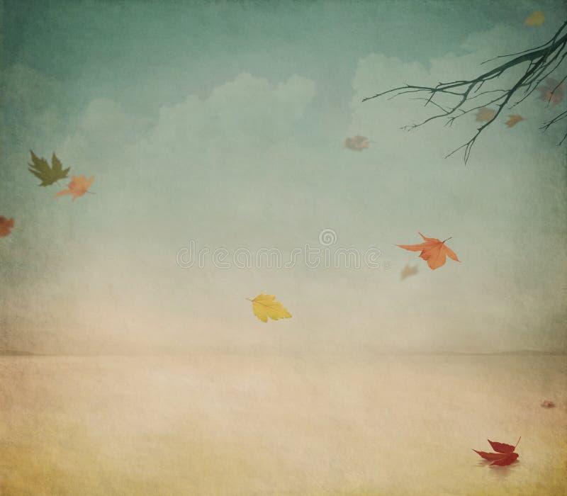 温暖的秋天 向量例证