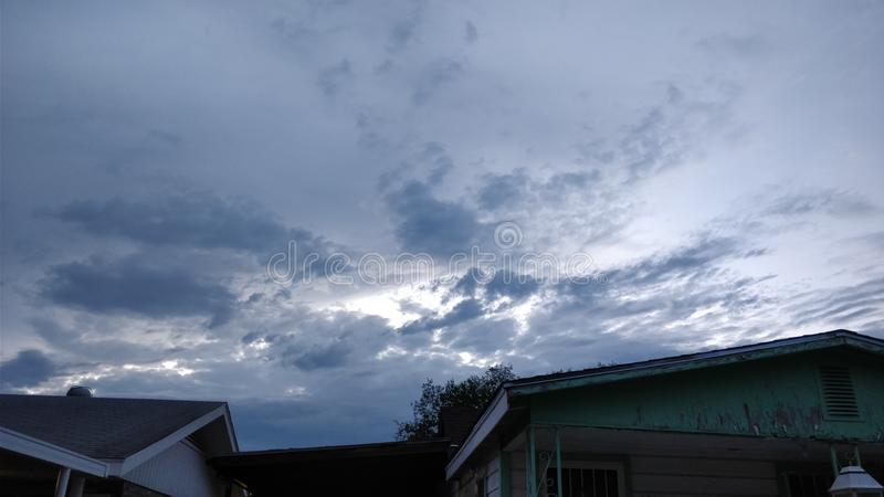 温暖的雨天 库存图片