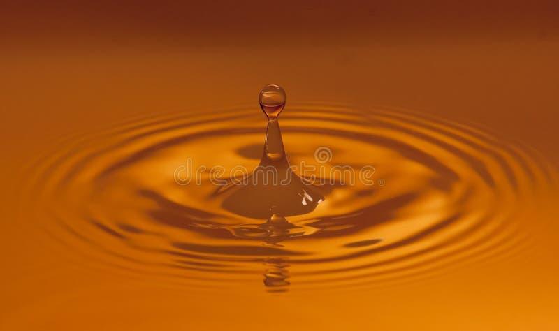 温暖色的水下落 免版税库存照片