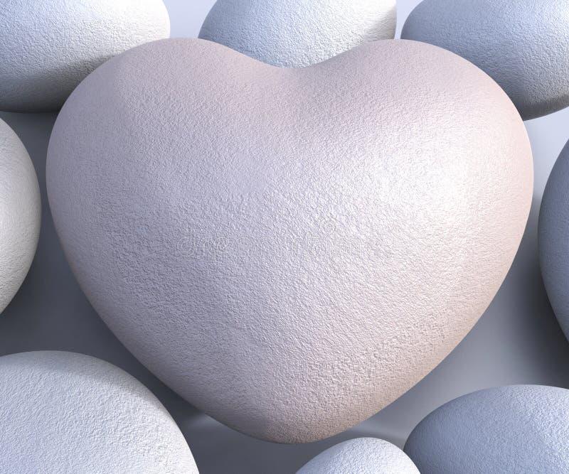 温泉向手段情人节和平静扔石头 库存例证