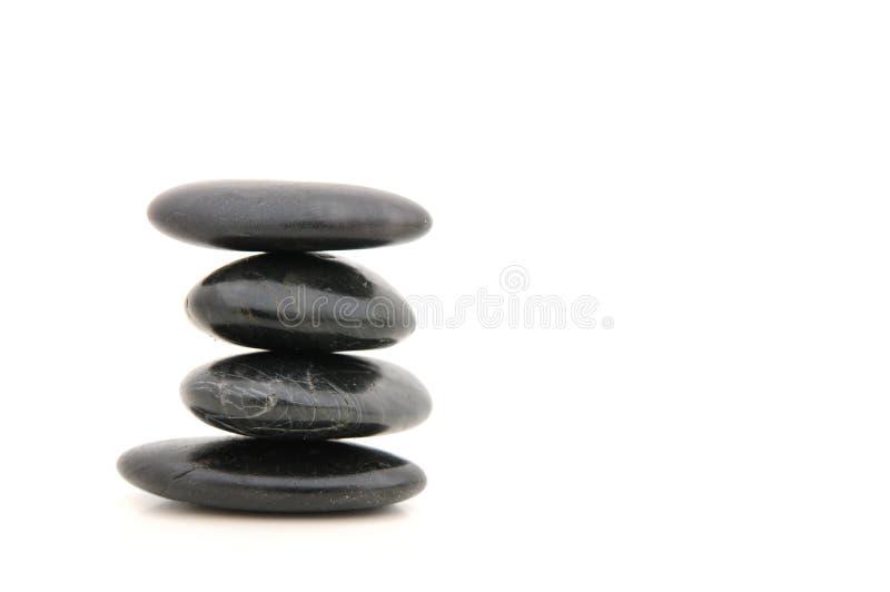温泉向禅宗扔石头 库存图片