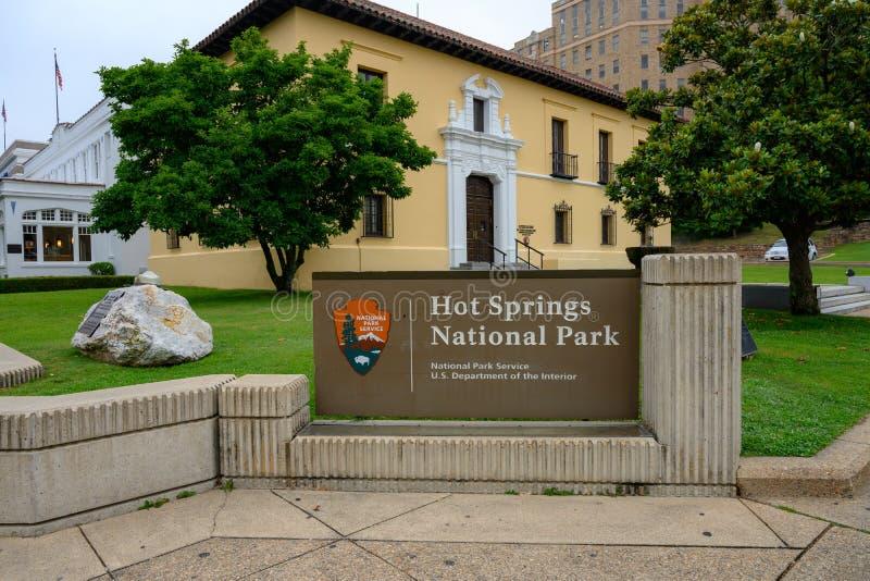 温泉国家公园标志 免版税库存图片