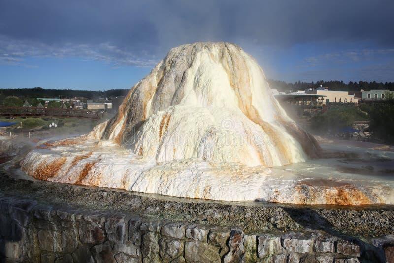 温泉在帕戈萨斯普林斯,科罗拉多,美国 库存图片