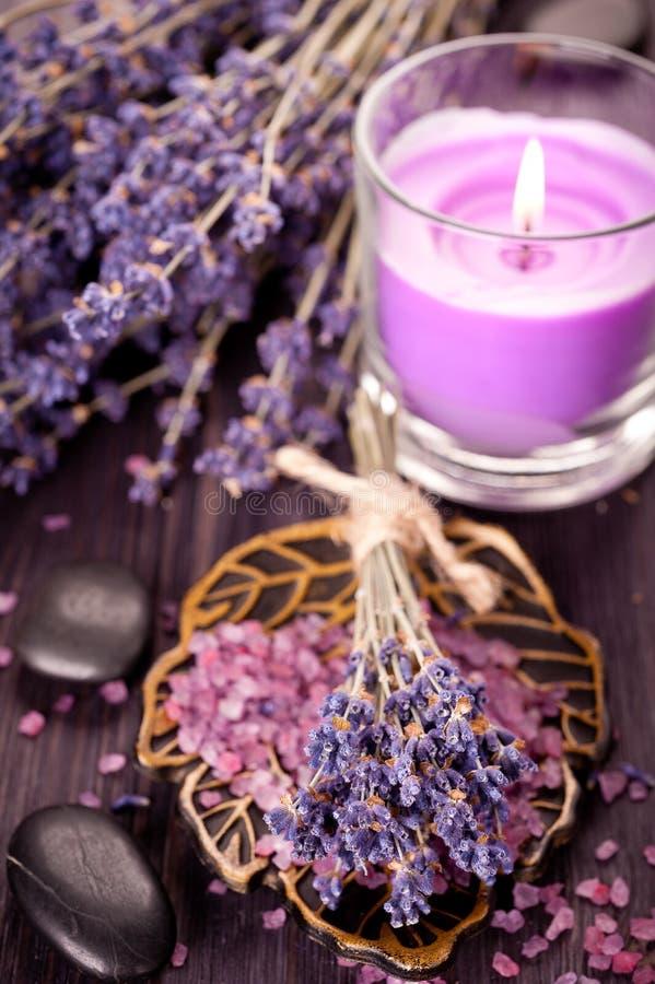 温泉概念用淡紫色 库存图片
