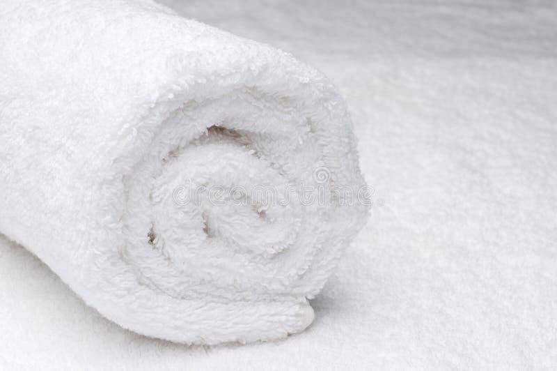 温泉毛巾白色 免版税库存图片