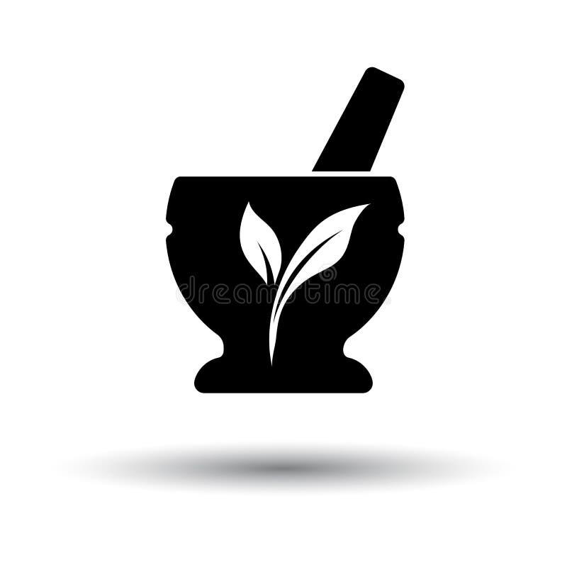 温泉灰浆象 库存例证