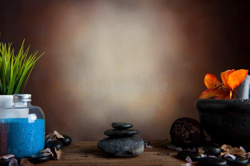 温泉石头 库存照片